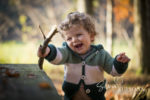 Kinder Foto-Shooting im Wald